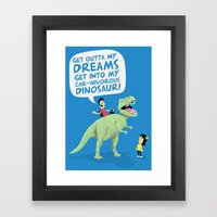 my car-nivorous dinosaur Framed Art Print