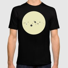 Solar System (you are here) Strings SMALL Mens Fitted Tee Black