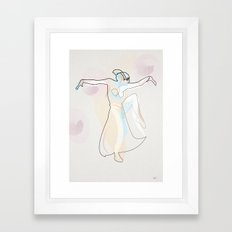 One Line Metropolis : Maria's dance Framed Art Print