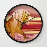 HORSE - Palomino Wall Clock