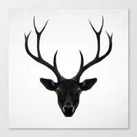 The Black Deer Canvas Print