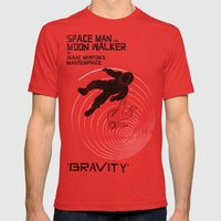 GRAVITY Mens Fitted Tee Red SMALL