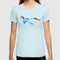 Raptor Rainbow Dash Womens Fitted Tee Light Blue SMALL