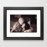 i'll squish your face Framed Art Print
