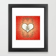 Framed Art Print featuring Heart With The Letter L by Nicky2342