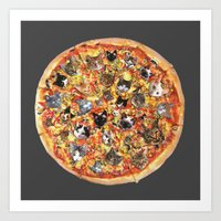 If the internet was a pizza... Art Print