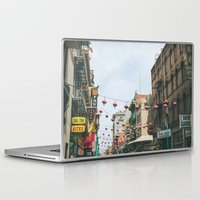 san francisco Laptop & iPad Skins featuring San Francisco  by Sarah Ann Loreth