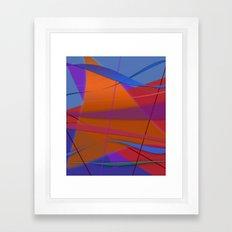Abstract #430 Sailing Framed Art Print