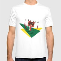 Machinery, No. 0002 Mens Fitted Tee White SMALL