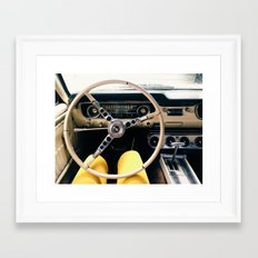 FROM BEHIND THE WHEEL - IV Framed Art Print