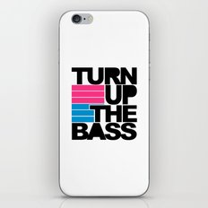 Turn Up The Bass Music Quote iPhone & iPod Skin