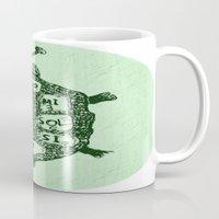 Turtle On Green Mug