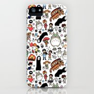 Kawaii Ghibli Doodle iPhone (5, 5s) Slim Case