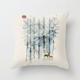 Throw Pillow - the blue forest - bri.buckley