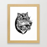 Ferocious Beauty Framed Art Print