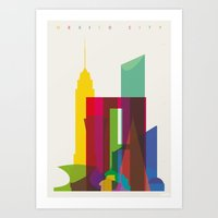 Shapes of Mexico City accurate to scale Art Print