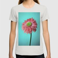 Spring Vibes Womens Fitted Tee Silver SMALL
