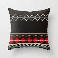 Aztec Dark Throw Pillow