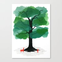 Man & Nature - The Tree of Life Canvas Print