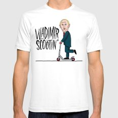 Vlad Scootin White Mens Fitted Tee SMALL