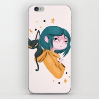 Twitchy, Witchy Girl iPhone & iPod Skin