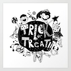 For Halloween - Trick or treat Art Print