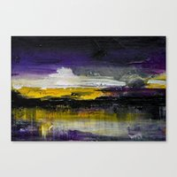 Purple Abstract Landscape Canvas Print