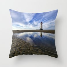 Lighthouse squared Throw Pillow