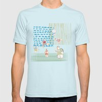 Swimming pool Mens Fitted Tee Light Blue SMALL