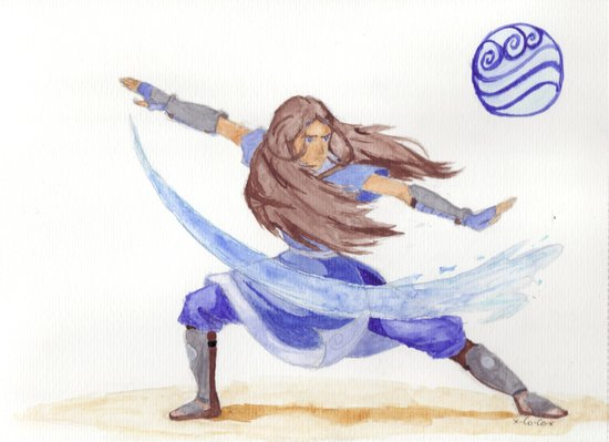 Avatar - Water Bending Art Print