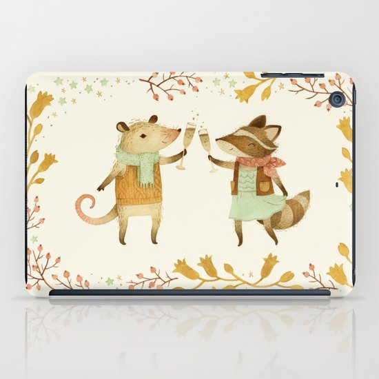 Cheers! From Pinknose the Opossum & Riley the Raccoon iPad Case