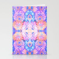 Pyschedelic Floral Stationery Cards