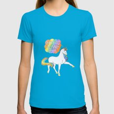 Unicorn Womens Fitted Tee Teal SMALL