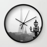 Veiled Eiffel Tower Wall Clock