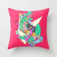 Ju-RAD-ssic Park Throw Pillow