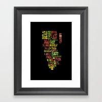 Alphabet Cities 002 - Ne… Framed Art Print