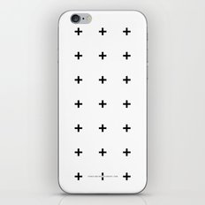 Black Plus On White /// … iPhone & iPod Skin