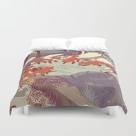 Duvet Cover featuring Fisher Fox by Teagan White