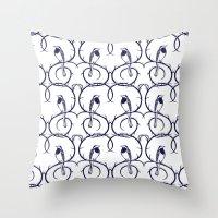 Love Birds Pattern Throw Pillow