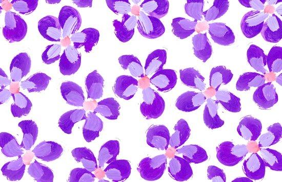 Posey Power - Purple Multi Canvas Print