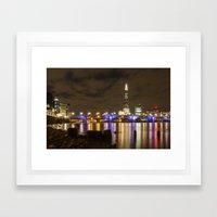 Night Shoot London Low Tide Framed Art Print