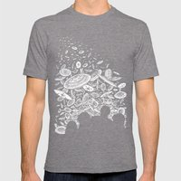 The Day the Saucers Came Mens Fitted Tee Tri-Grey SMALL