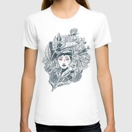 Ecstasy & Decay Womens Fitted Tee White SMALL