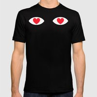 EYES 4 U ONLY Mens Fitted Tee Black SMALL
