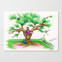 ME ON A SCHOOL TREE - 19… Canvas Print