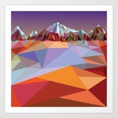 Night Mountains No. 23 Art Print