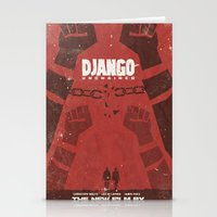 Django Unchained -  Quentin Tarantino Minimal Movie Poster Stationery Cards