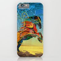 iPhone Cases featuring The Wind of Time (Red Horse) by Waelad Akadan