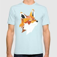 Faux Renard Mens Fitted Tee Light Blue SMALL