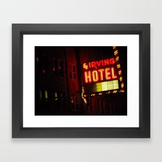 The Irving Park Hotel ~ Chicago Noir ~ Vintage Neon Sign Framed Art Print